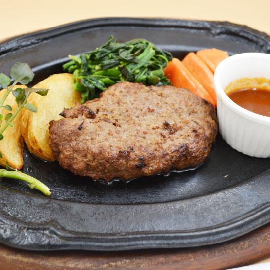 下館駅近く サンビオラ 国産牛肉100%ハンバーグ